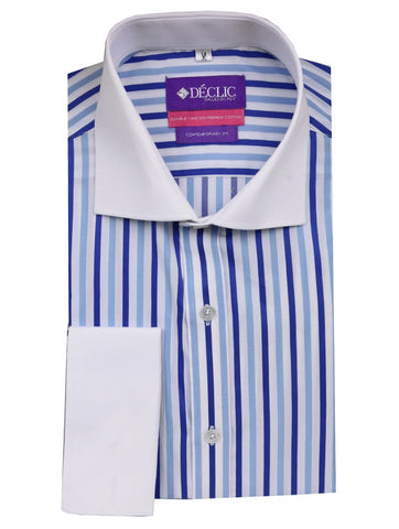 DÉCLIC Jarrow Linen Stripe Shirt - Blue