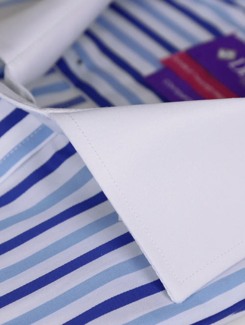 DÉCLIC Talley 2-Tone Stripe Shirt - Blue