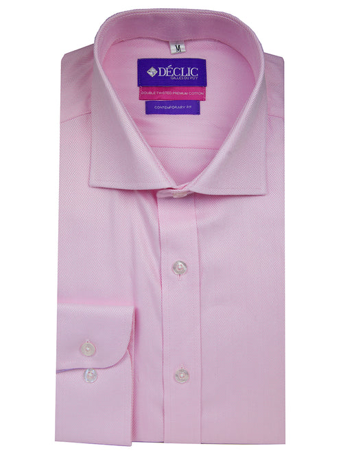 DÉCLIC 'Easy Travel' Tintern Twill Shirt - Pink