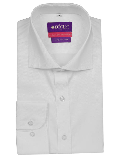 DÉCLIC 'Easy Travel' Tintern Twill Shirt - White