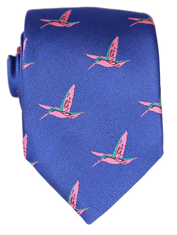 DÉCLIC Flamingo Night Tie - Navy/Red