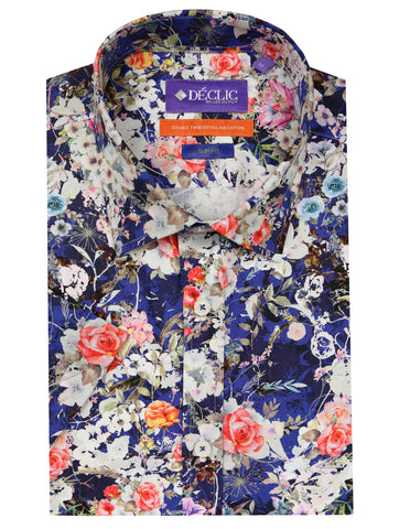 DÉCLIC Fernt Floral Print Shirt - Blue