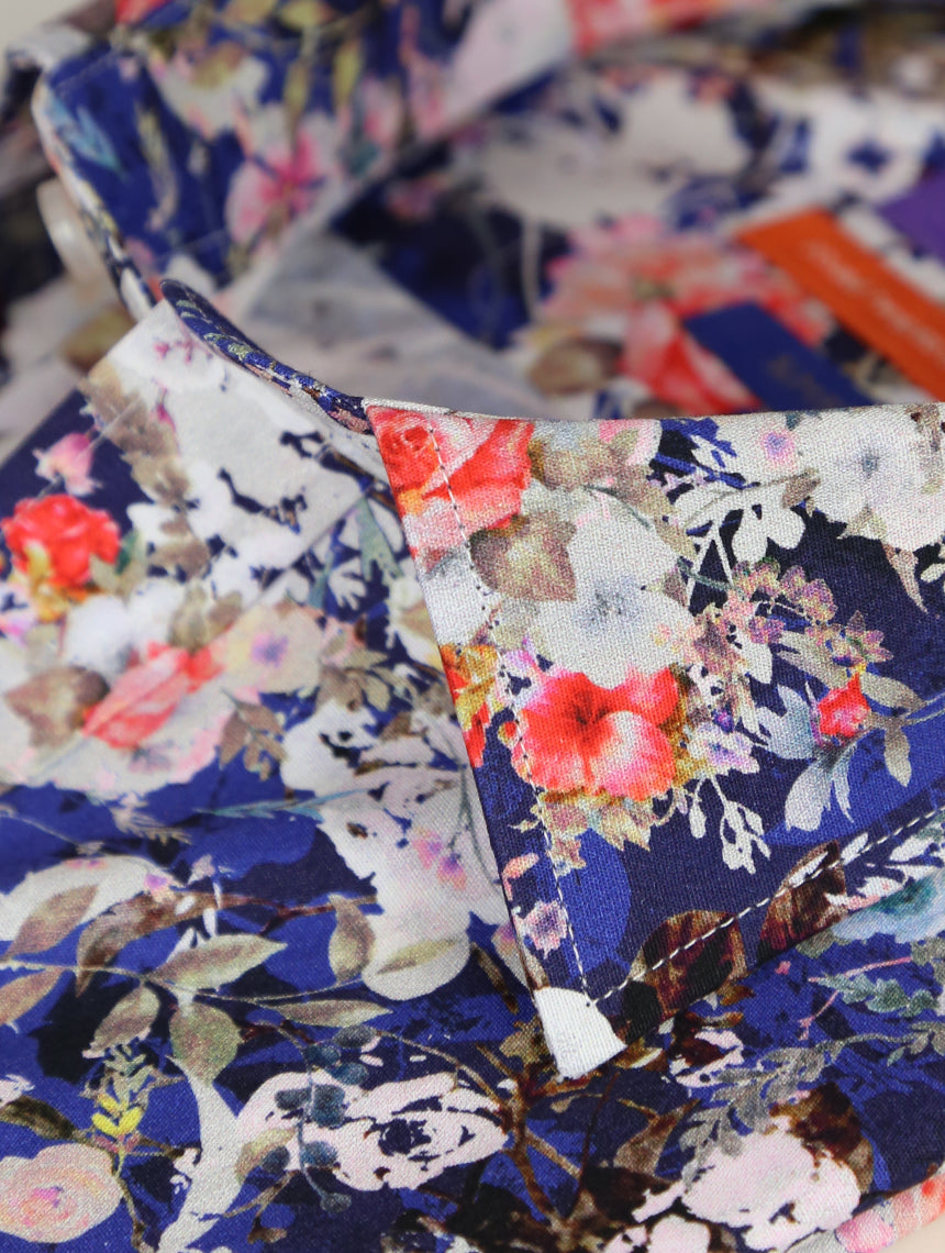 DÉCLIC Eclectic Floral Print Short Sleeve Shirt - Assorted