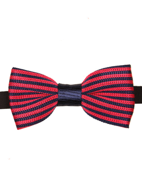 DÉCLIC Vers Knitted Bow Tie - Navy/Red