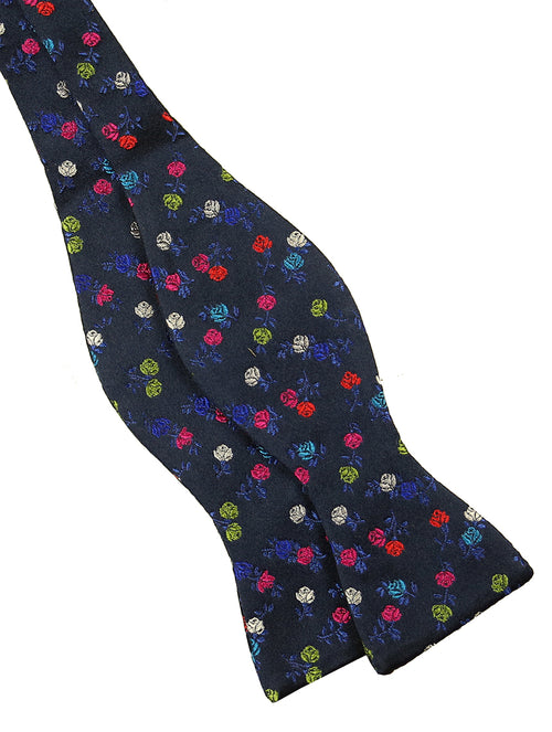DÉCLIC Solus Floral TYO Bow Tie - Navy