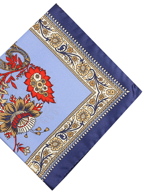 DÉCLIC Riche Floral Hanky - Blue/Navy