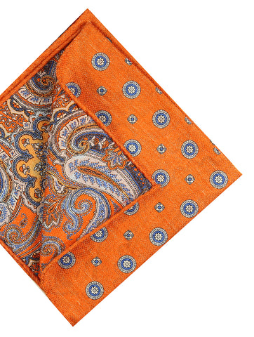 DÉCLIC Rohkea Pocket Square - Orange