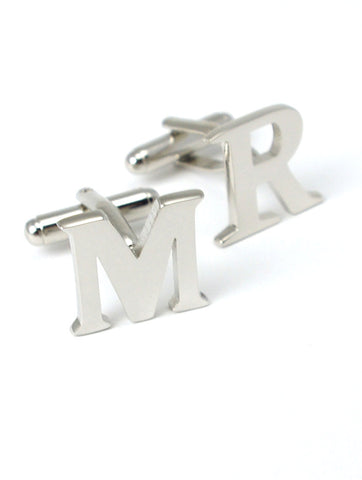 DÉCLIC Contour Rectangle Cufflink - Silver