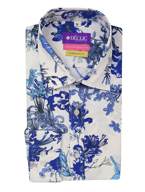 DÉCLIC Haven Print Shirt - Blue