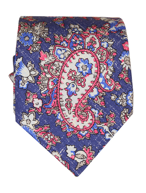 DÉCLIC Ceris Paisley Tie - Navy/Red
