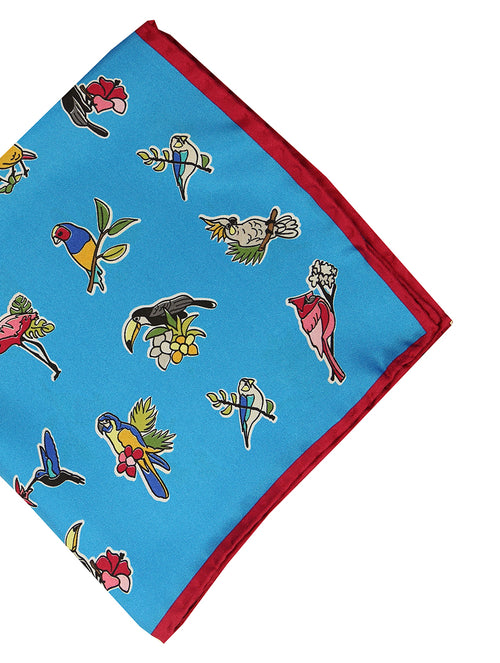 DÉCLIC Birds Hanky - Blue
