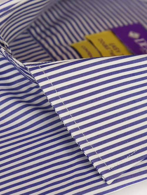 DÉCLIC 'Easy Travel' Cruise Stripe Shirt - Blue