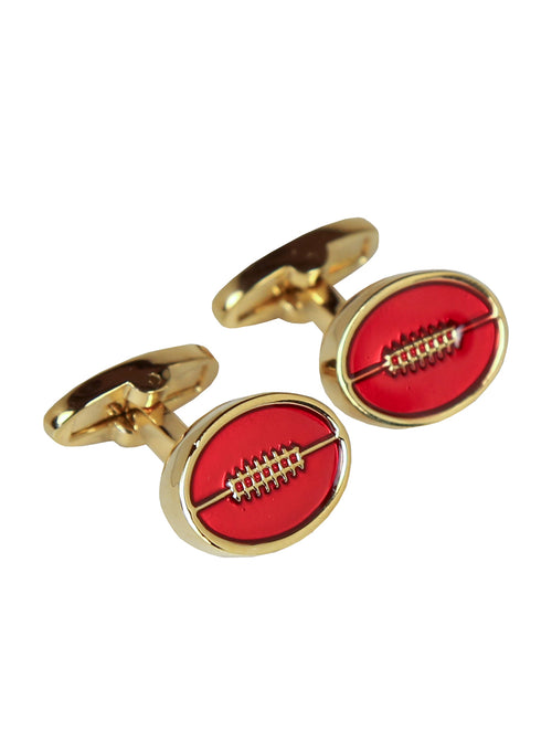 DÉCLIC Australian Football Cufflink - Gold