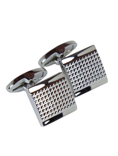DÉCLIC Strap Square Cufflink - Silver