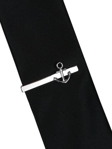 DÉCLIC Chained Tie Bar - Gunmetal