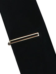 DÉCLIC Hollow Tie Bar - Gold