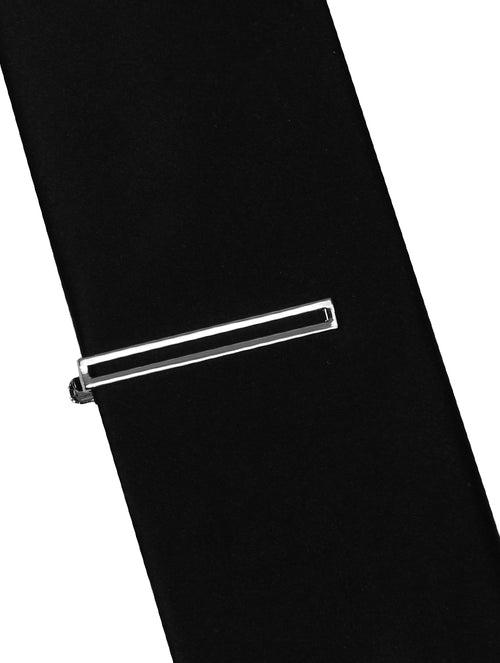 DÉCLIC Hollow Tie Bar - Silver