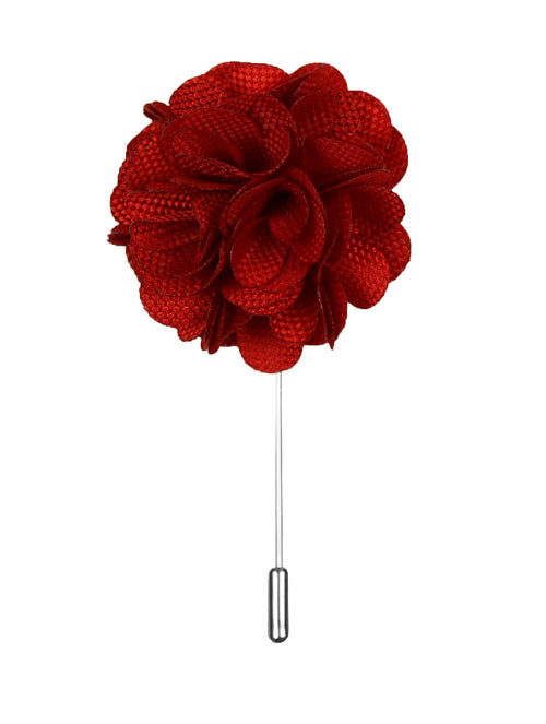 DÉCLIC Flower Texture Lapel Pin - Red