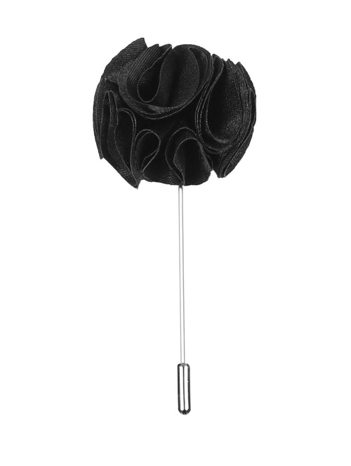 DÉCLIC Flower Fancy Lapel Pin - Black