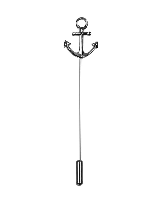 DÉCLIC Anchor Lapel Pin - Silver