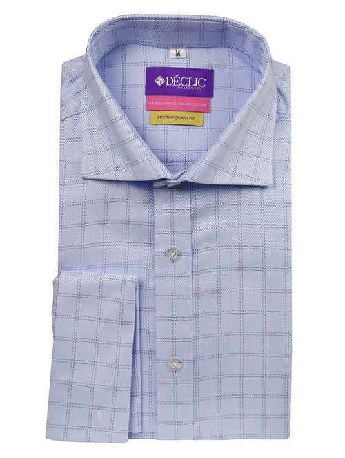 DÉCLIC Puglia Check Shirt - Blue