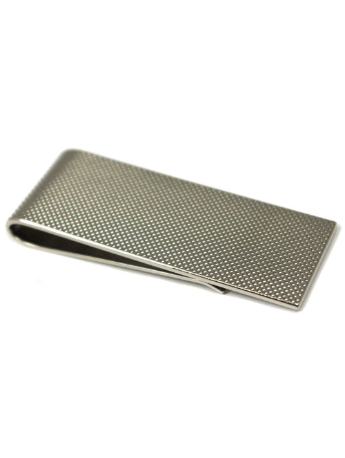 DÉCLIC Textured Money Clip - Silver