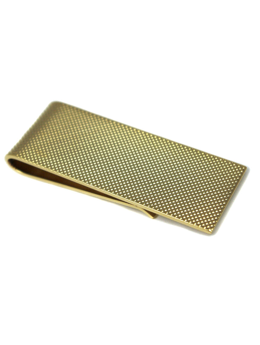 DÉCLIC Textured Money Clip - Gold