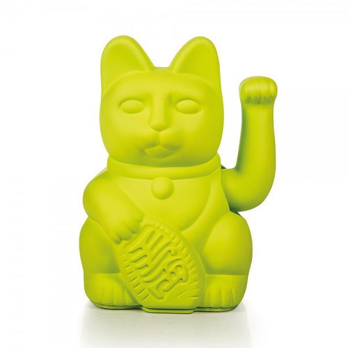 Lucky Cat - Neon Green