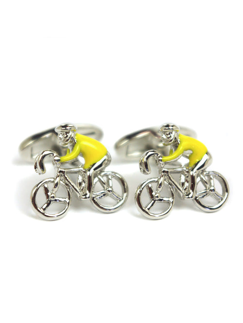 DÉCLIC Bicycle Cufflink - Yellow