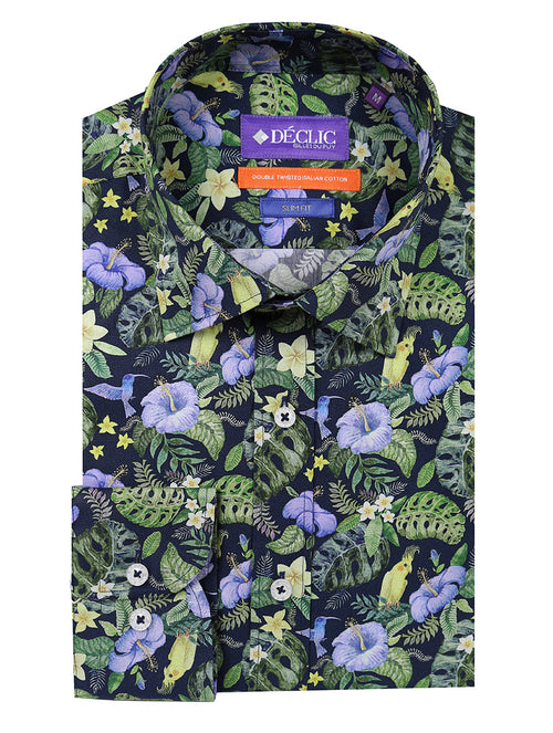DÉCLIC Sanctuary Print Shirt - Green