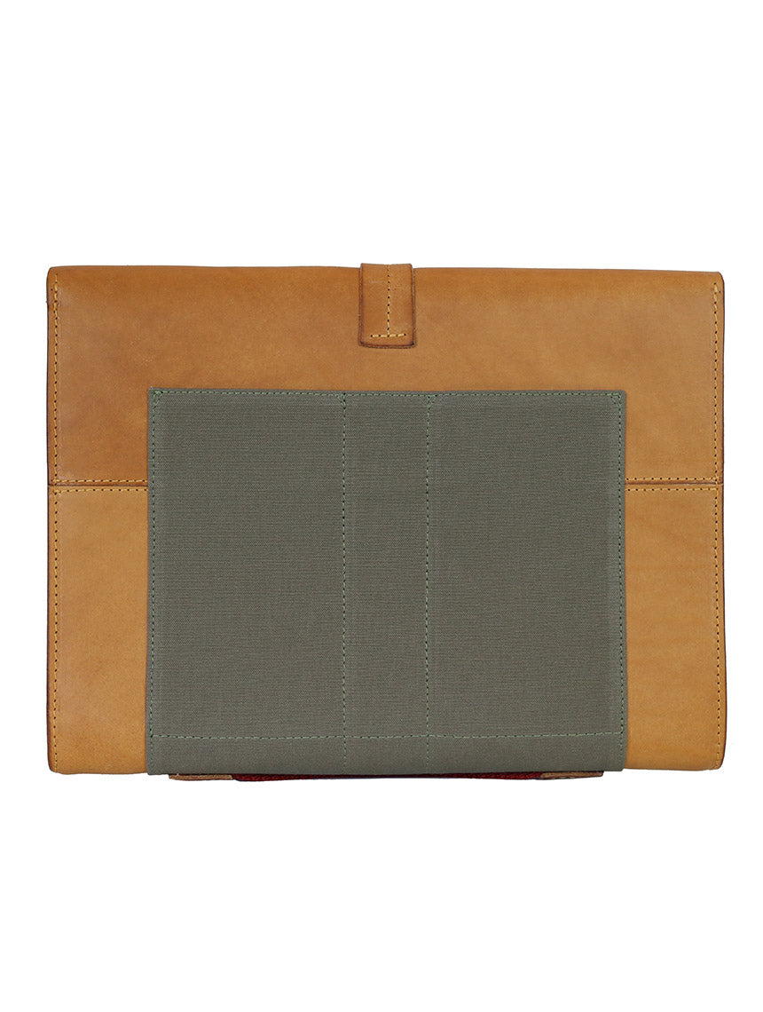 OF Pouch Leather/Canvas - Brown