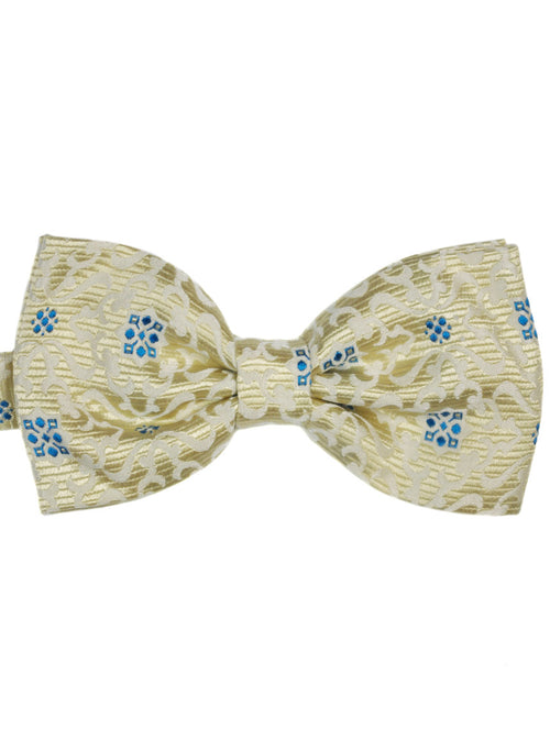 DÉCLIC Elegant Patterned Bow Tie - Champagne
