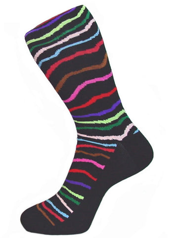 DÉCLIC Harlequin Socks - Black (15 Year Sock Anniversary Re-release)