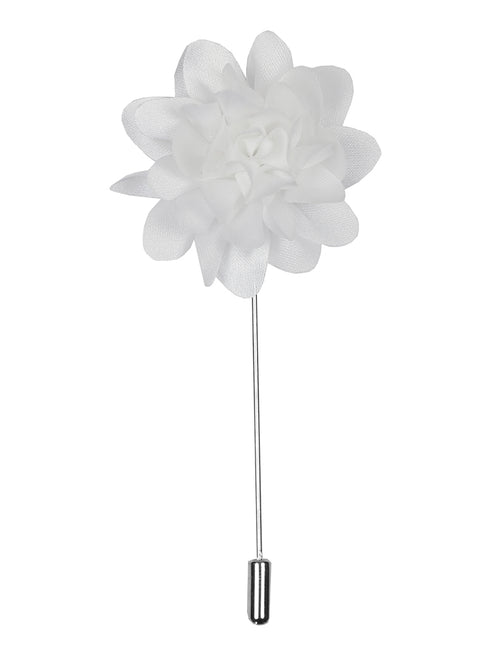 DÉCLIC Flower Chrys Lapel Pin  - White
