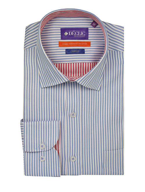 DÉCLIC Dent Stripe Shirt - Blue