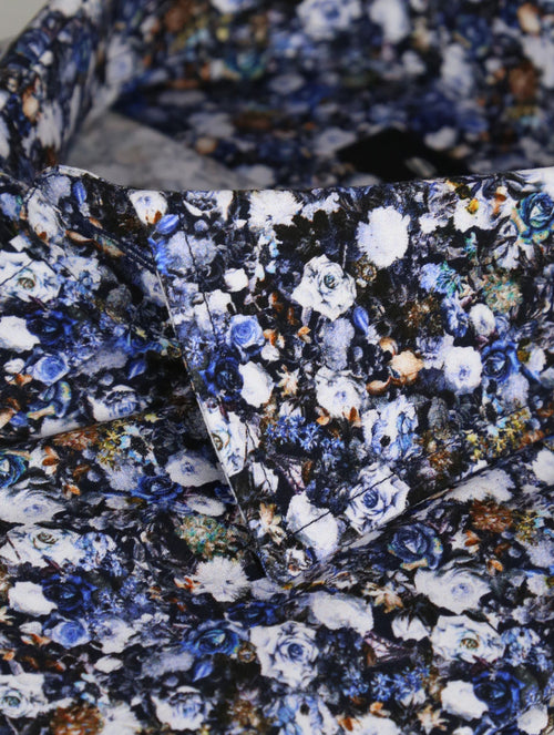 SD Floral Bed Print Shirt - Blue