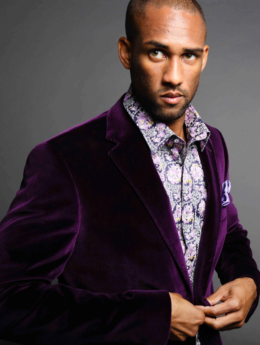 DÉCLIC 'Regal' Velvet Jacket - Purple