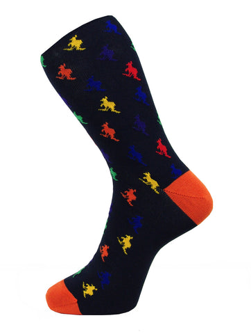 DÉCLIC Plain Diamond Socks - Navy