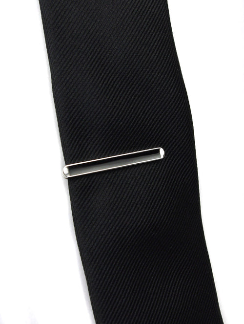 DÉCLIC Slotted Tie Bar - Black