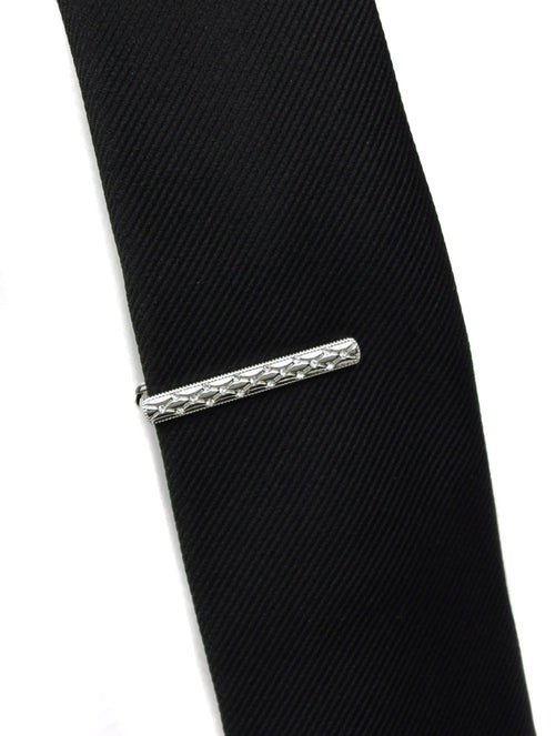 DÉCLIC Fancy Diamante Tie Bar - Silver