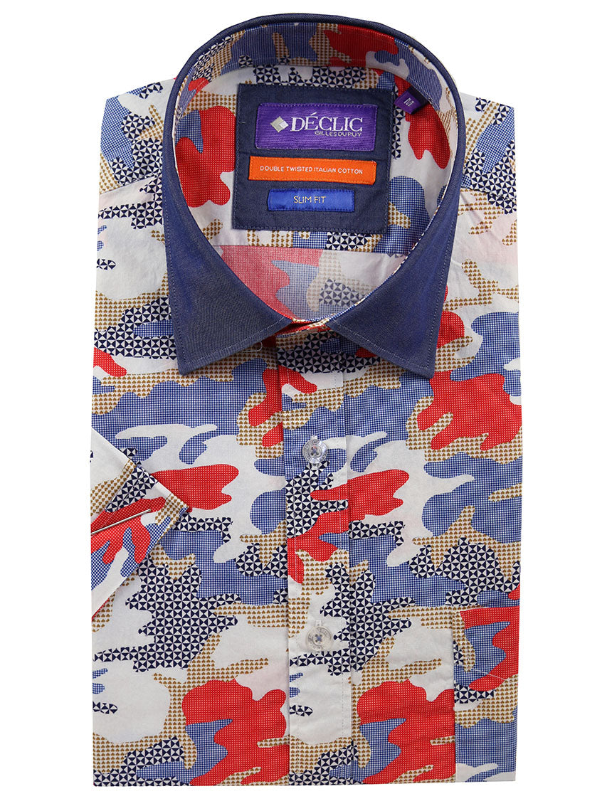 DÉCLIC Prado Short Sleeve Print Shirt - Multi