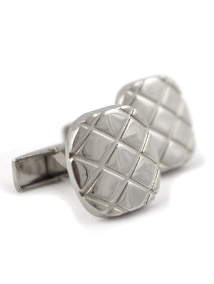 DÉCLIC Checkered Cushion Cufflinks