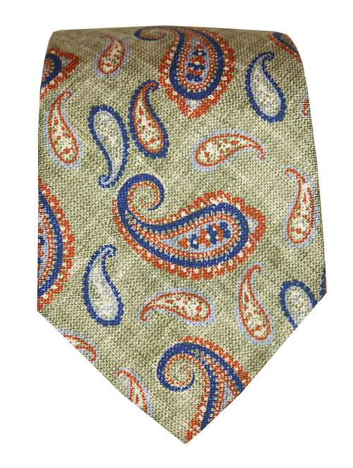DÉCLIC Marke Paisley Tie - Green