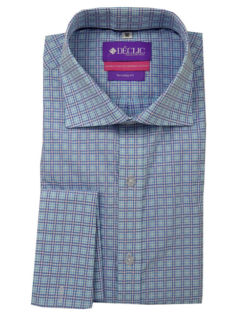 DÉCLIC Anise Check Shirt - Aqua