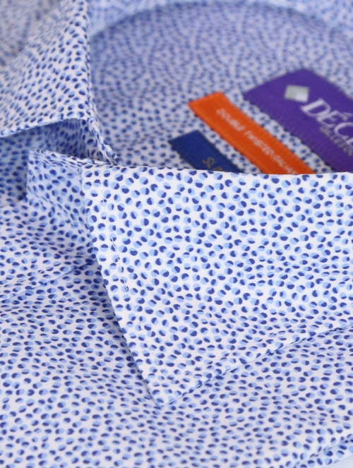 DÉCLIC Swarm Print Short Sleeve Shirt - Blue