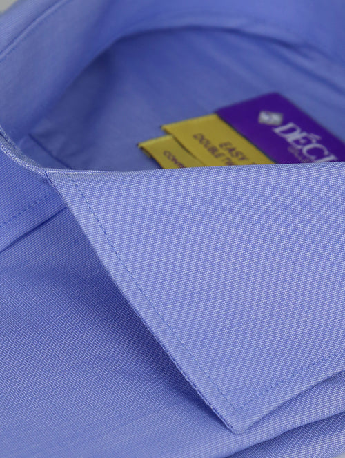 DÉCLIC 'Easy Travel' Trip Textured Shirt - Blue