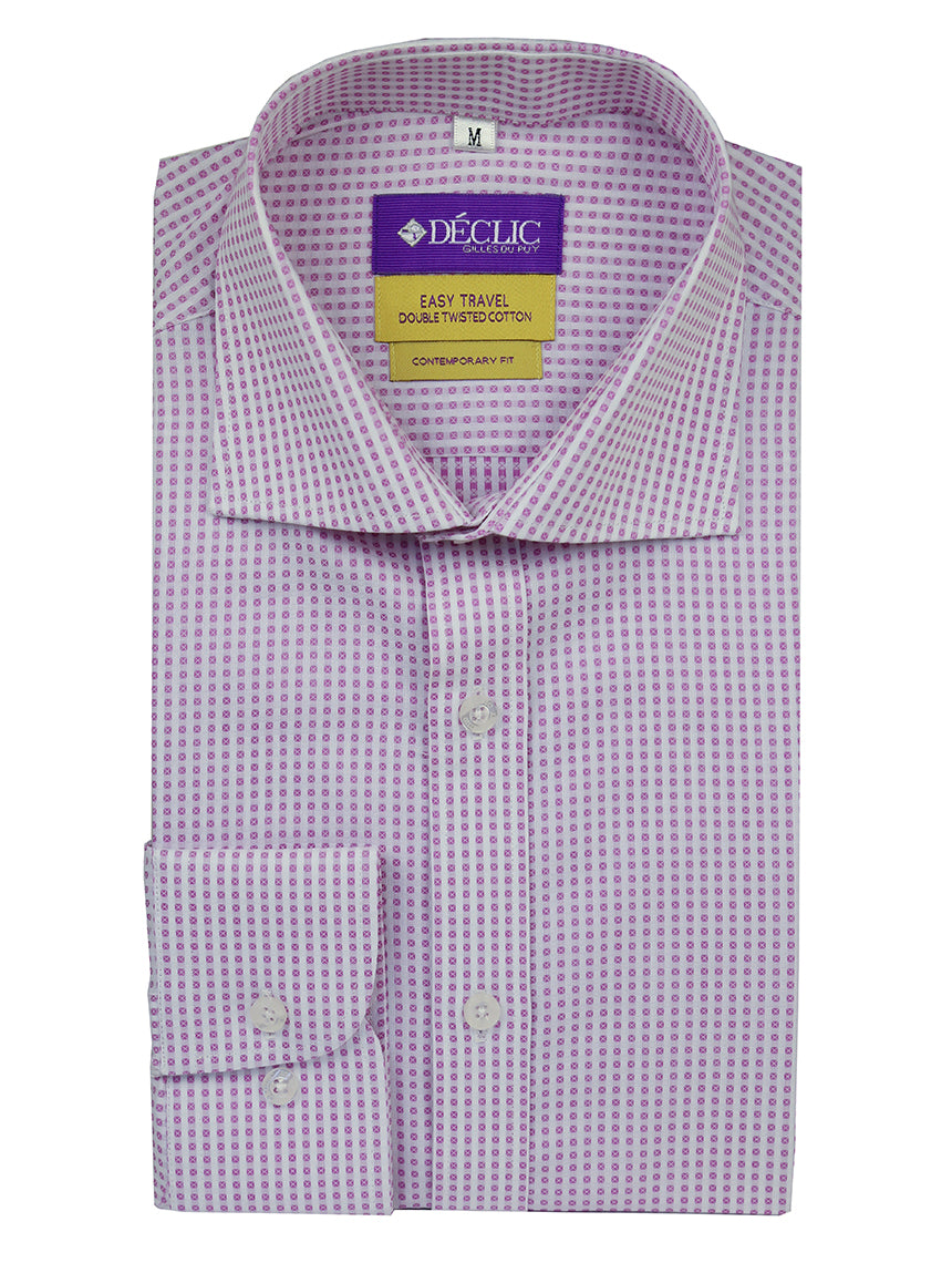 DÉCLIC 'Easy Travel' Trek Patterned Shirt - Mauve