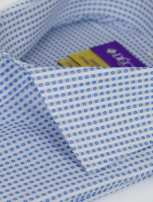 DÉCLIC 'Easy Travel' Trek Patterned Shirt - Aqua