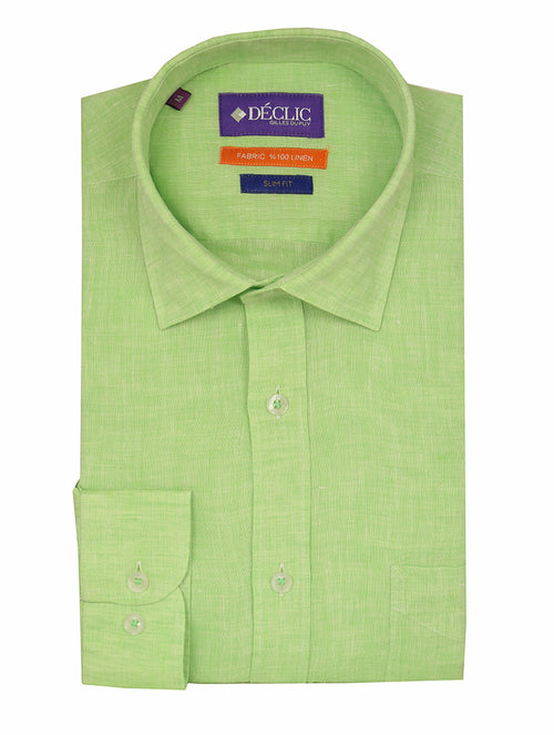 DÉCLIC Lido Linen Shirt - Green