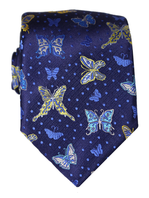 DÉCLIC Butterfly Night Tie - Navy